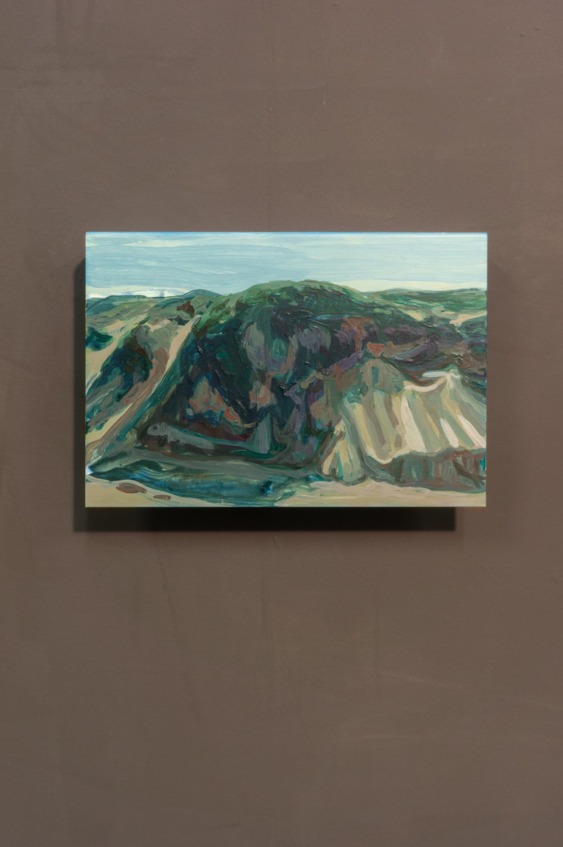 Dune #1, Acrylic on folded iron, 15 x 22 x 5 cm (2019)