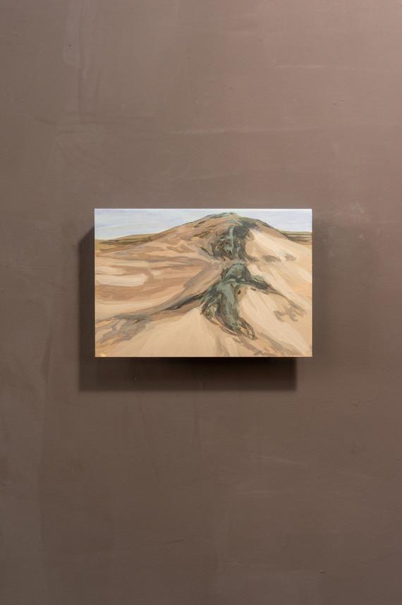 Dune #10, Acrylic on folded iron, 15 x 22 x 5 cm (2020)