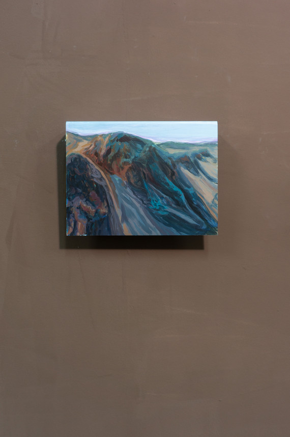Dune #5, Acrylic on folded iron, 15 x 22 x 5 cm (2019)