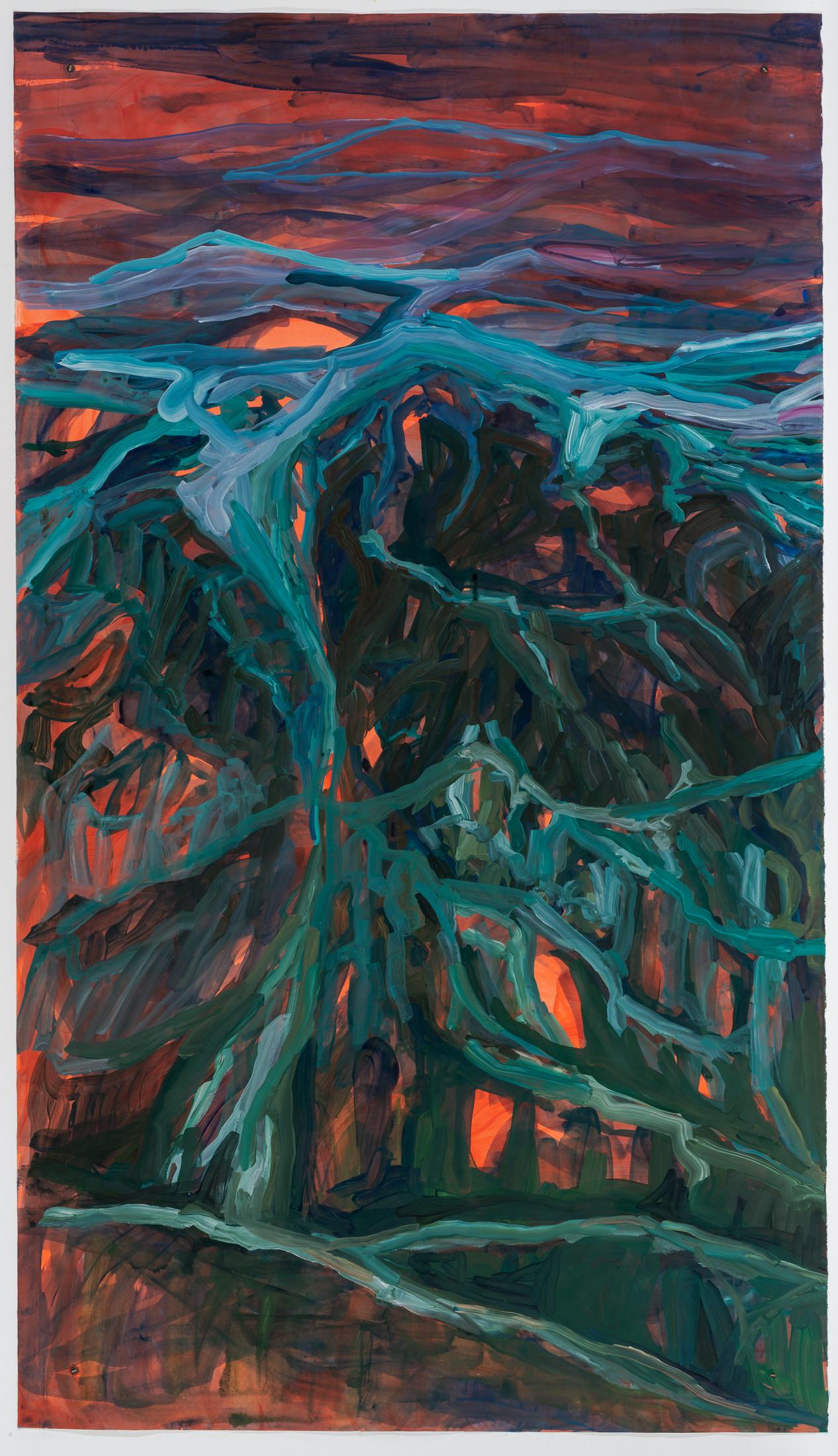 Liquid Sand, acrylic on watercolor paper, 250 x 140 cm DMF 2020