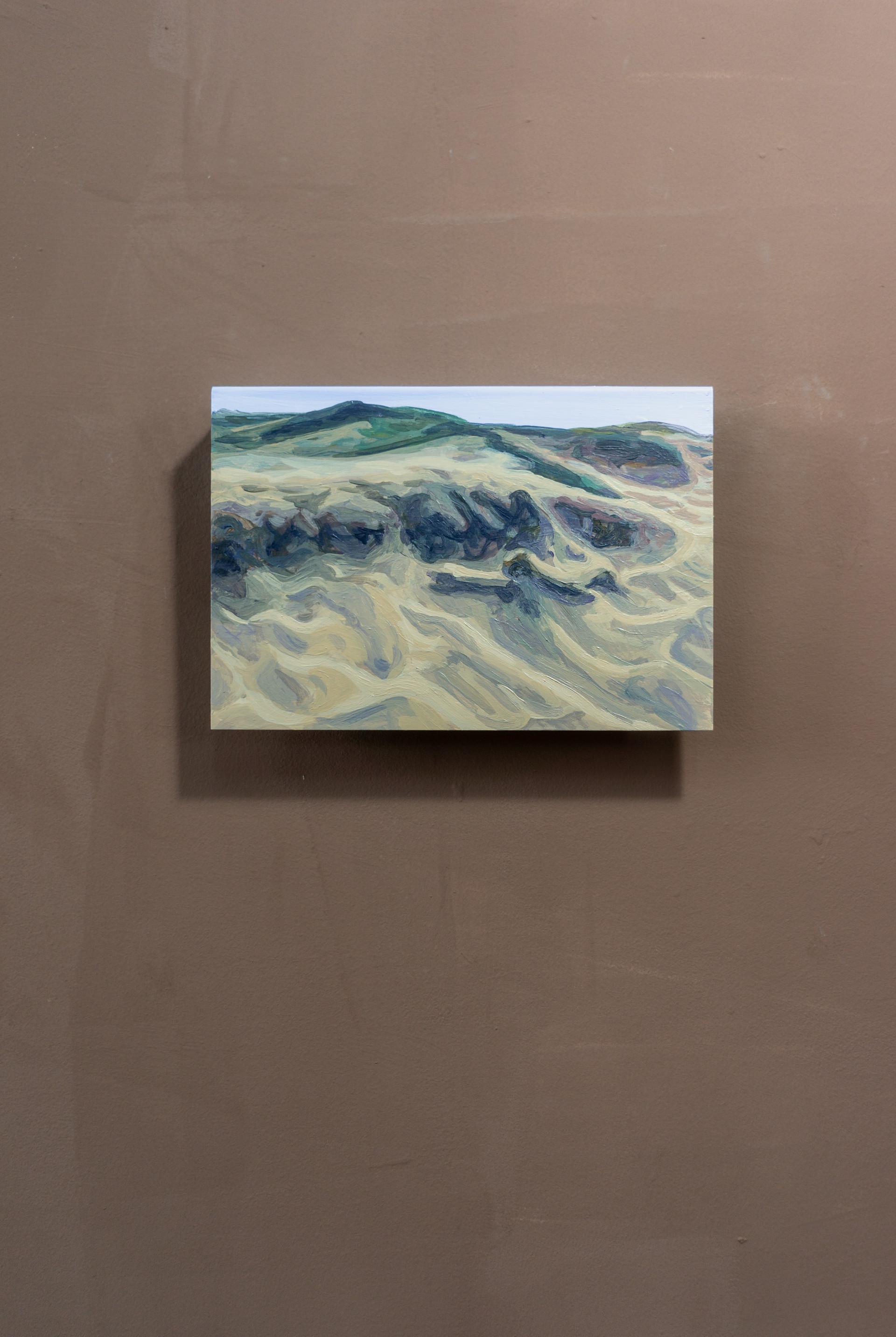Dune #7, Acrylic on folded iron, 15 x 22 x 5 cm (2020)