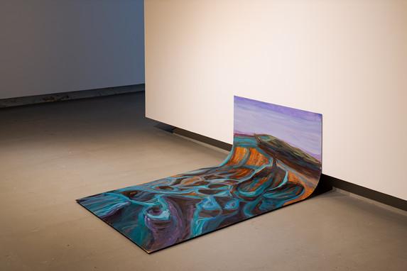 acrylic on folded iron, 100 x 100 x 150 cm (2020) DMF (2020)