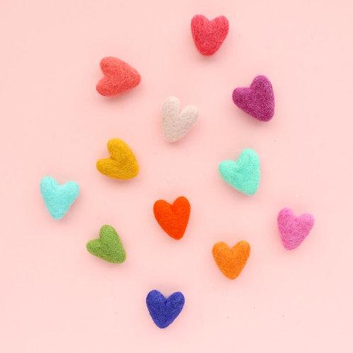 Rainbow Heart Magnet - Set of 12