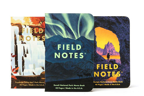 Field Notes National Park Series, Three Pack- E
