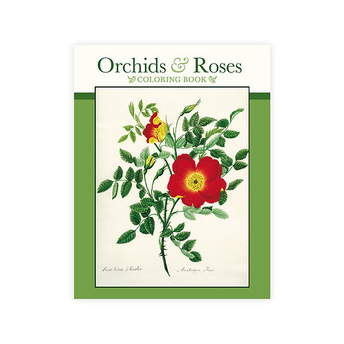 Orchids & Roses Coloring Book