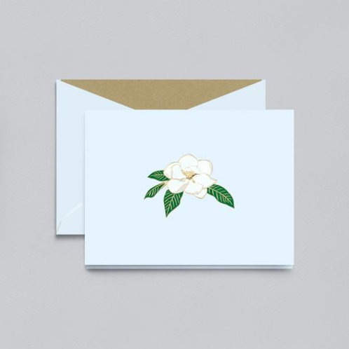 Engraved Magnolia Blossom Notes - Box of 10
