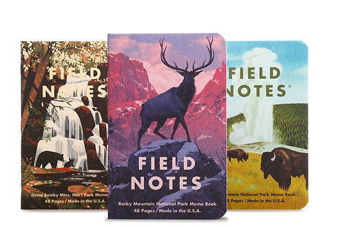 Field Notes National Park Series, Three Pack- C