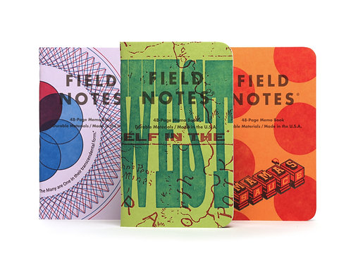 Field Notes United States of Letterpress, Three Pack- A