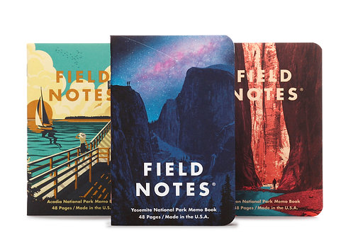 Field Notes National Park Series, Three Pack- A