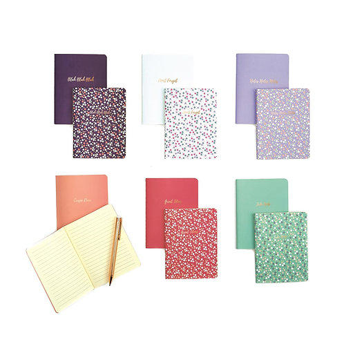 Floral Set of 2 Saying Notebooks