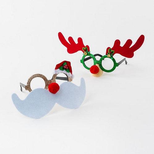 Santa & Reindeer Novelty Glasses