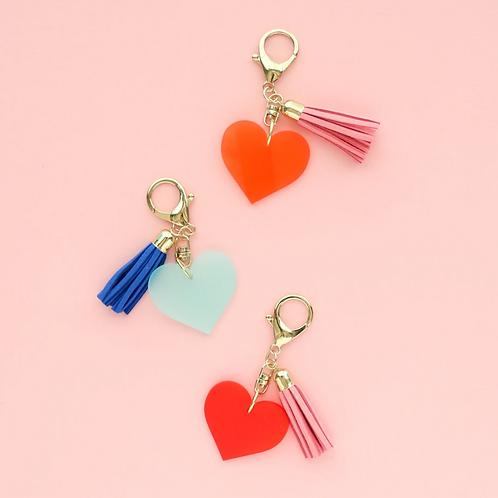 Heart Tassel Keychain