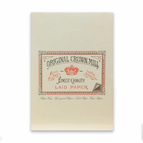 Original Crown Mill A5 Writing Pad - Cream