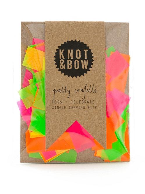 Knot & Bow Party Confetti, Neon