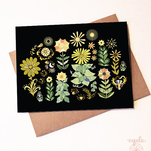 Sunflowers Notecards by Cynla