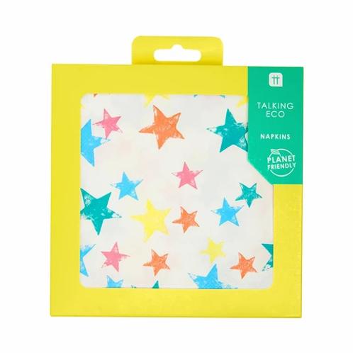 Talking Tables Birthday Brights Rainbow Star Napkinss
