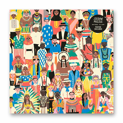 People of the World 500 Piece Jigsaw Puzzle by Emma Cooter
