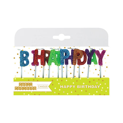 Happy Birthday Bright Candles