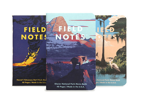 Field Notes National Park Series, Three Pack- F