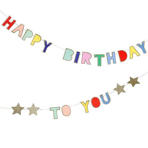 Happy Birthday To You Mini Garland by Meri Meri