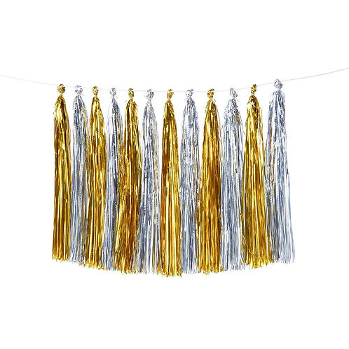Gold + Silver Party Tassels