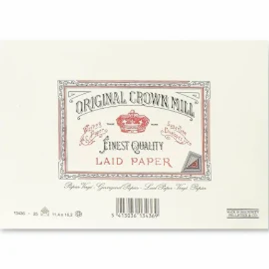 Original Crown Mill Classic Laid Envelopes -  #125 - Cream