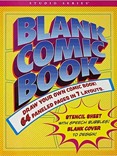 Studio Series Blank Comic Book (with bonus stencil and blank cover!)