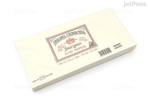 Original Crown Mill Classic Laid Envelopes - #140 - Cream
