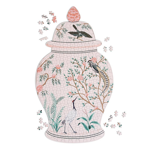 Floral and Fauna Ginger Jar Puzzle, 500 pc.