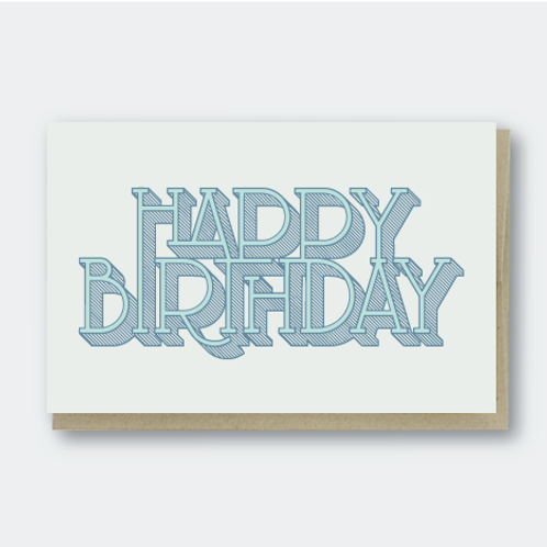 Birthday Shaded Type
