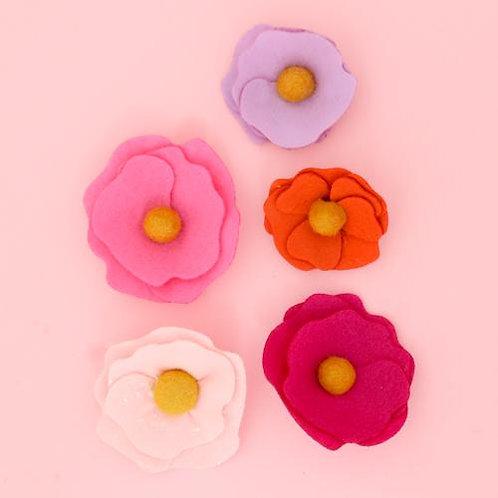 Flower Magnets - Set of 5