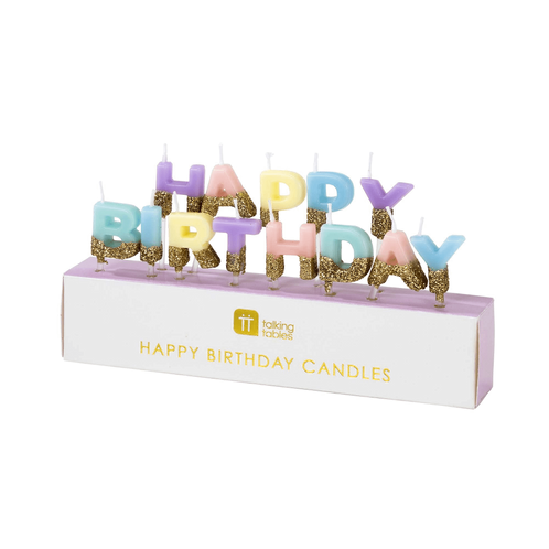 Happy Birthday Colored Candles