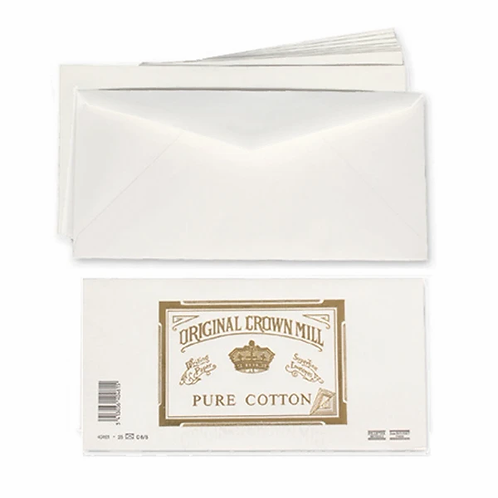 Original Crown Mill Pure Cotton Envelopes for A4 Sheets