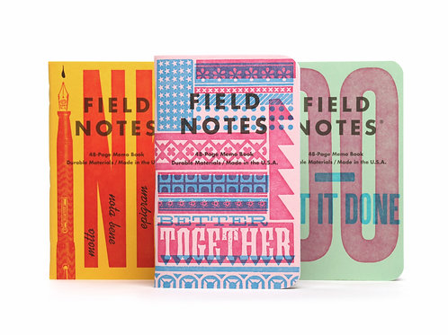 Field Notes, United States of Letterpress, Three Pack- B