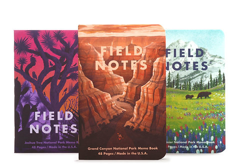 Field Notes National Park Series, Three Pack- B