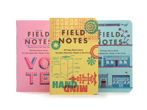 Field Notes United States of Letterpress, Three Pack- C