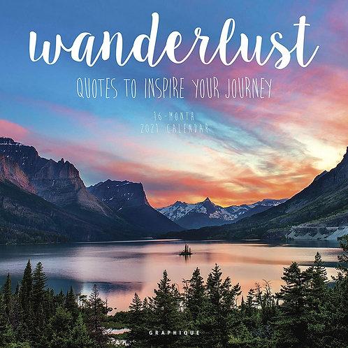 Wanderlust 2021 - 16 Month Calendar
