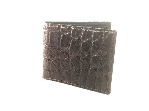 Alligator Dark Chocolate Micro-stitch Wallet