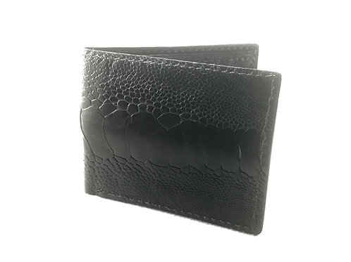 Ostrich Leg Obsidian Wallet wholesale (5 piece)