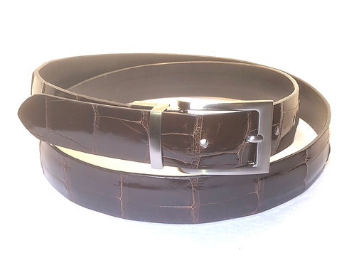 Alligator Obsidian Ultra Thin No-Stitch Belt