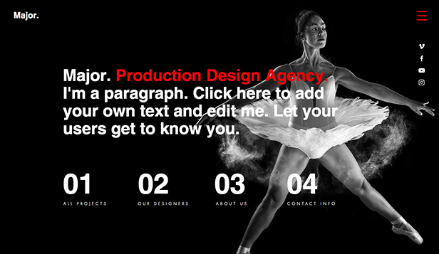 Underholdning website templates – Produktionsdesign