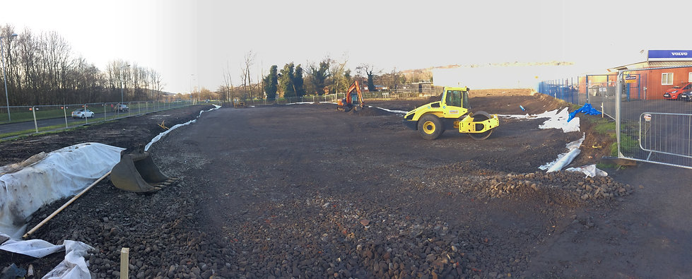 New Car Park and Sustainable Drainage / Swansea / FRF Volvo
