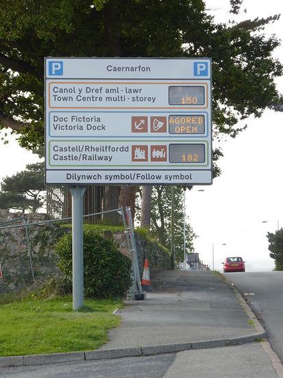 Variable Message Car Park Signage / Caernarfon / Gwynedd Council