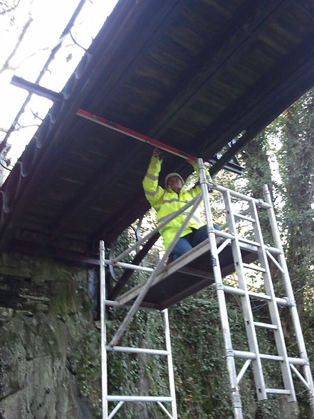 Grade II Listed Iron Bridge Survey / Llanberis / Kent Council Mountain Centre