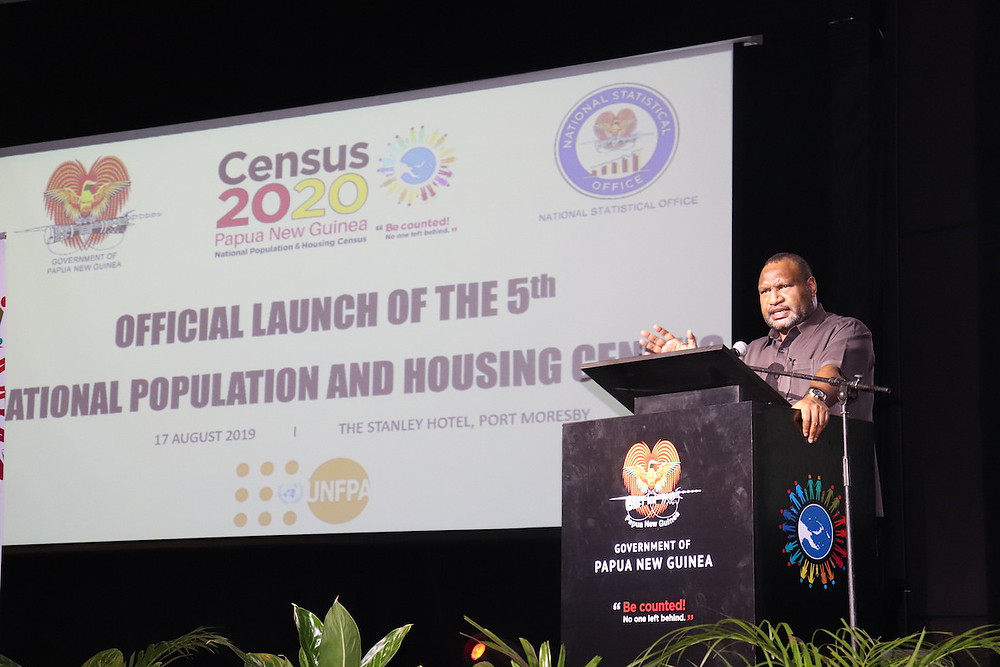 James Marape officially launching the 5th National Population and Housing Census (2020)