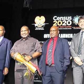 Prime Minister James Marape open Census