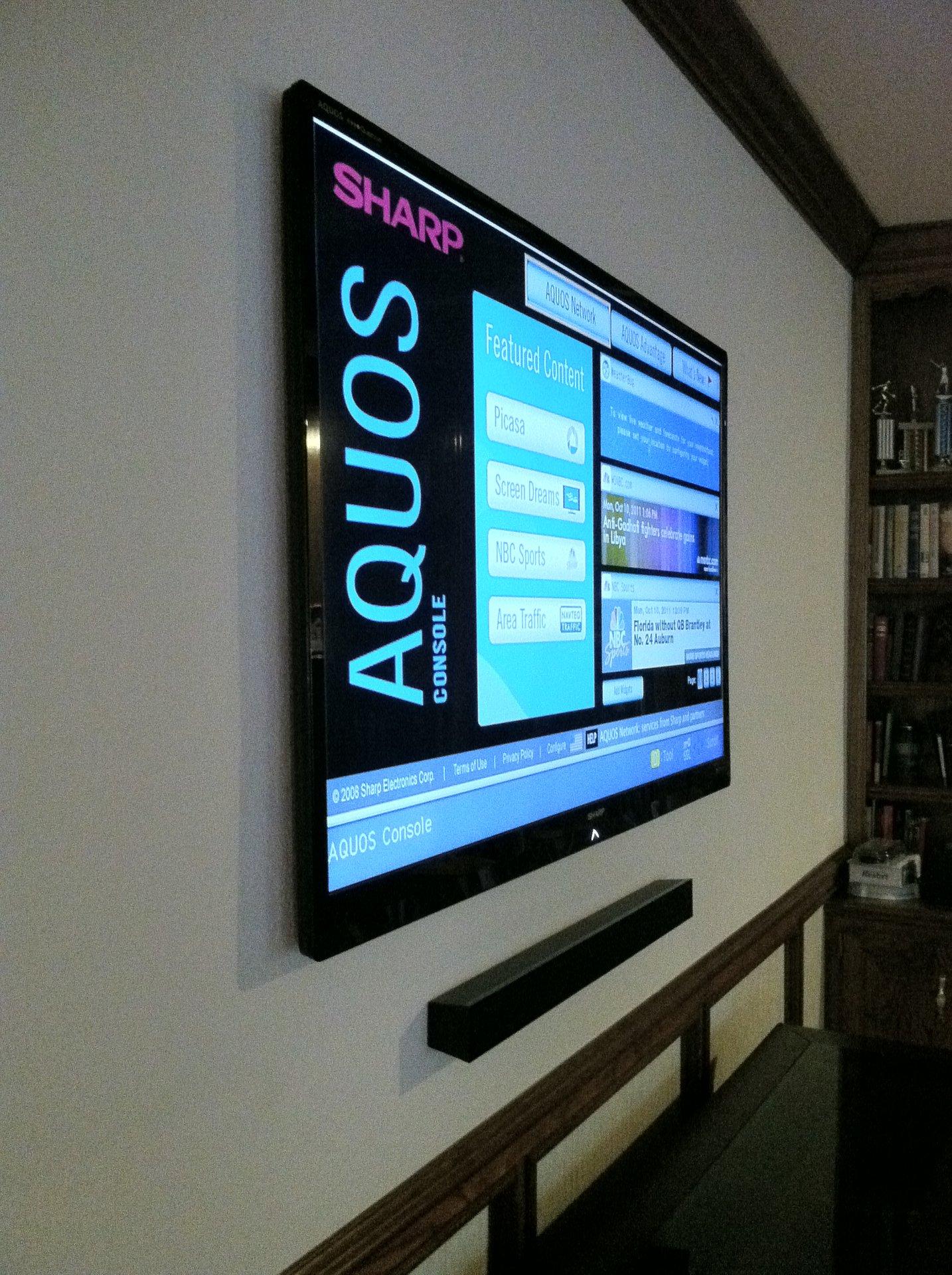 TV and Soundbar Install