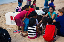 RR box - Philippines on beach - group
