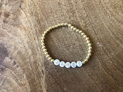 Gold name bracelets