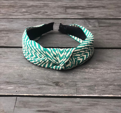 Green knot headband